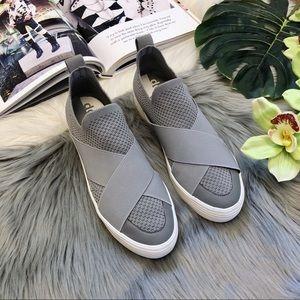Dolce Vita   Tillie Grey Mesh Fly Knit Sneaker
